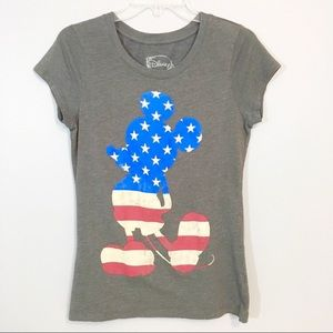 Disney Tops - Disney Mickey All American Flag Graphic T-Shirt